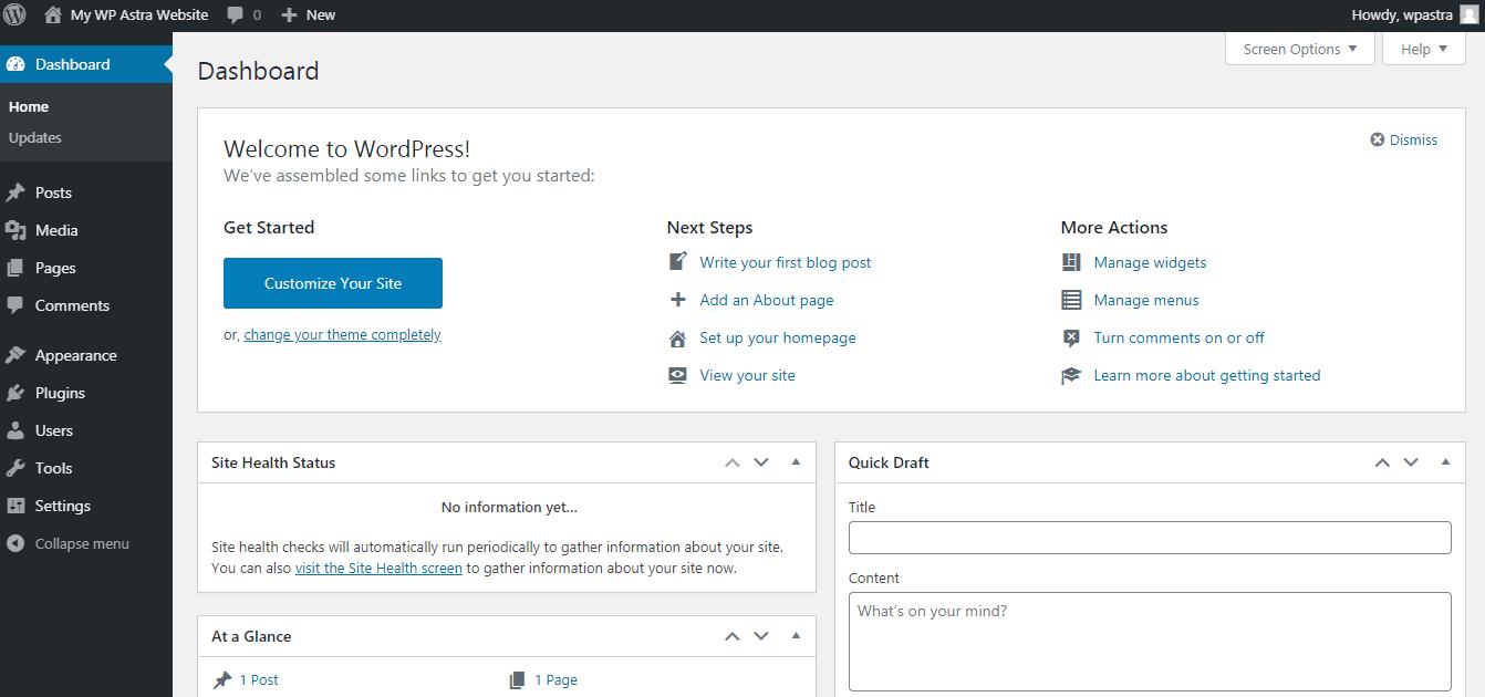 Wordpress installation using XAMPP