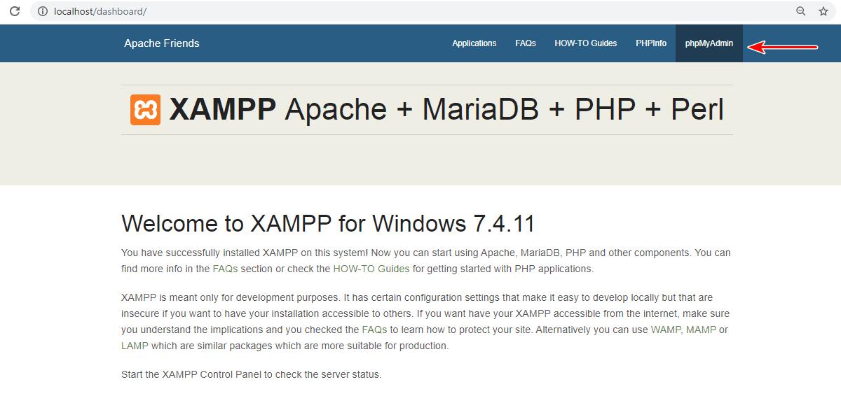 XAMPP WordPress database setup 1