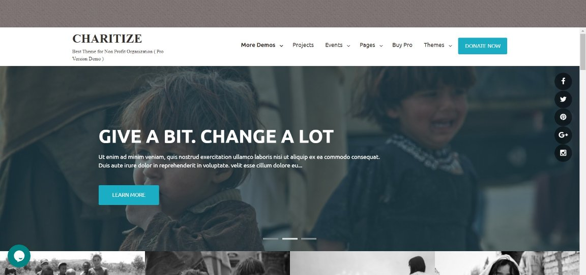 charitize wordpress theme