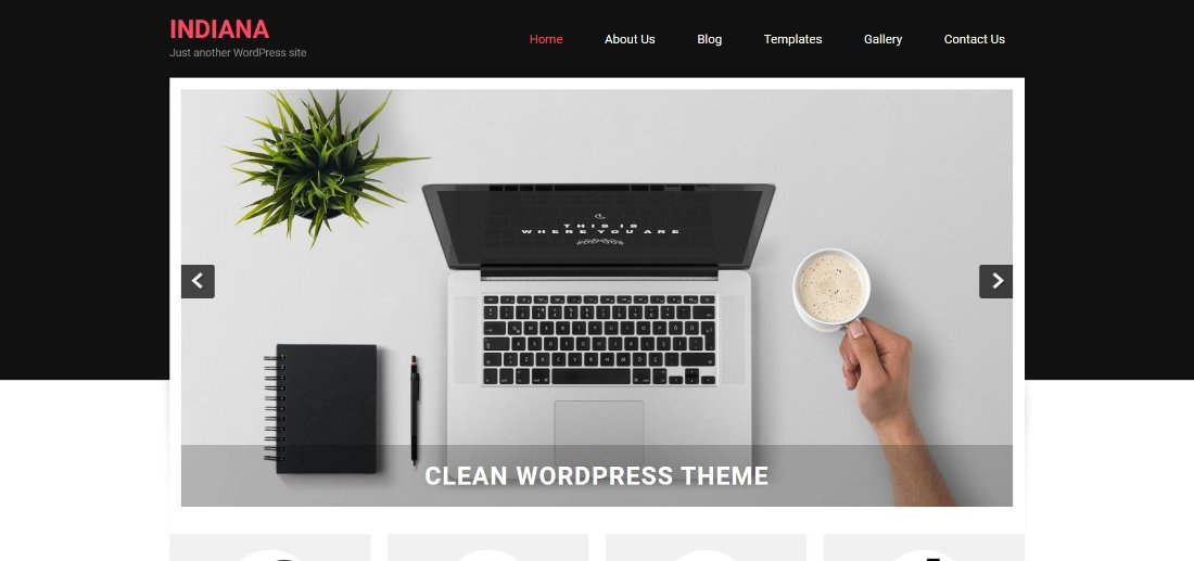 indiana free theme for wordpress