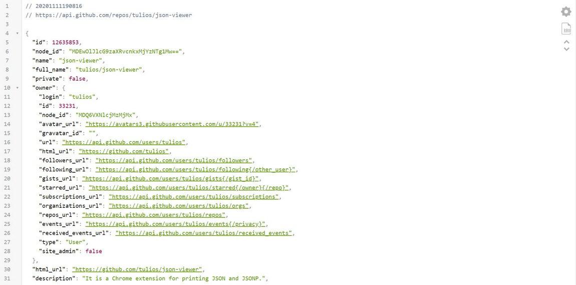 json viewer extension