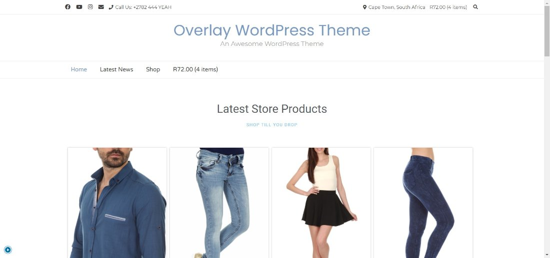 overlay wordpress demo site