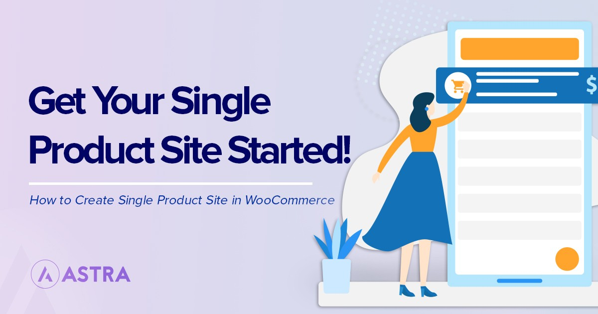 single product site using WooCommerce