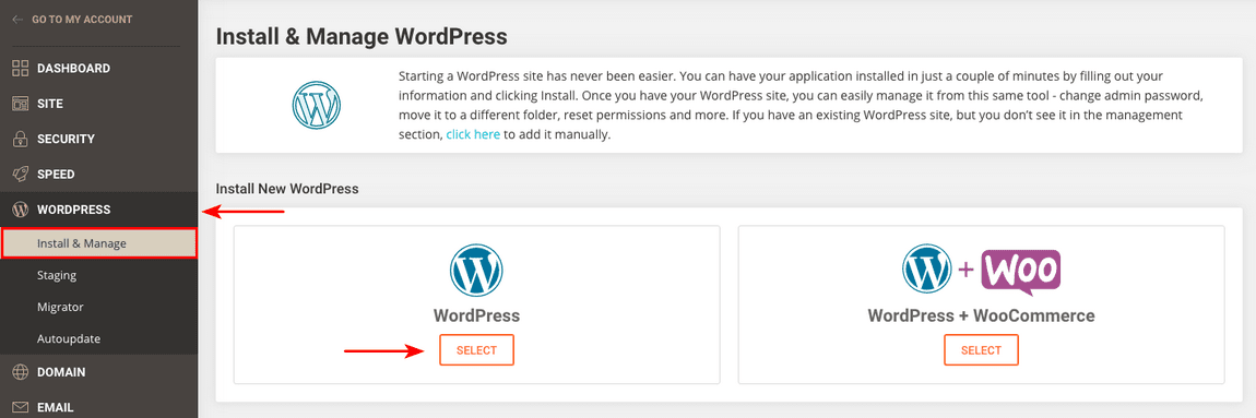 siteground install wordpress