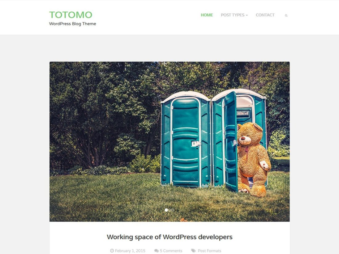 totomo wordpress theme demo template