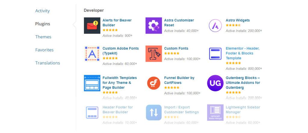 Free WordPress plugins developed at Brainstorm Force