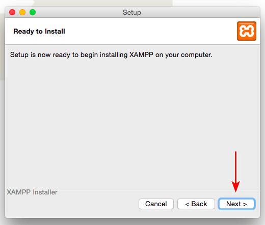 xampp installation on Mac 5