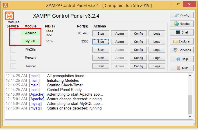 xampp settings for wordpress
