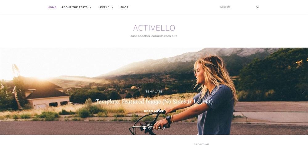 Activello Theme Demo site