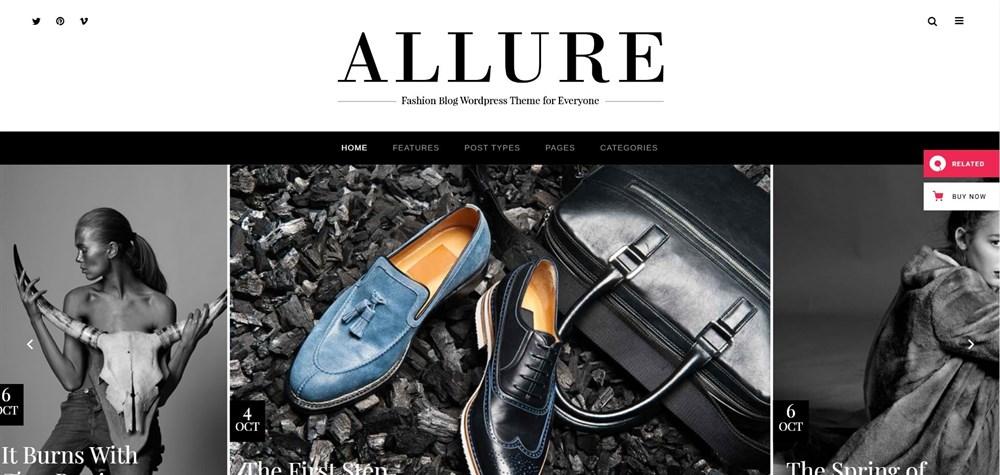 Allure A Fashionable Blog Theme