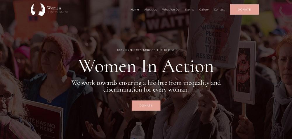Astra Women Empowerment NGO theme