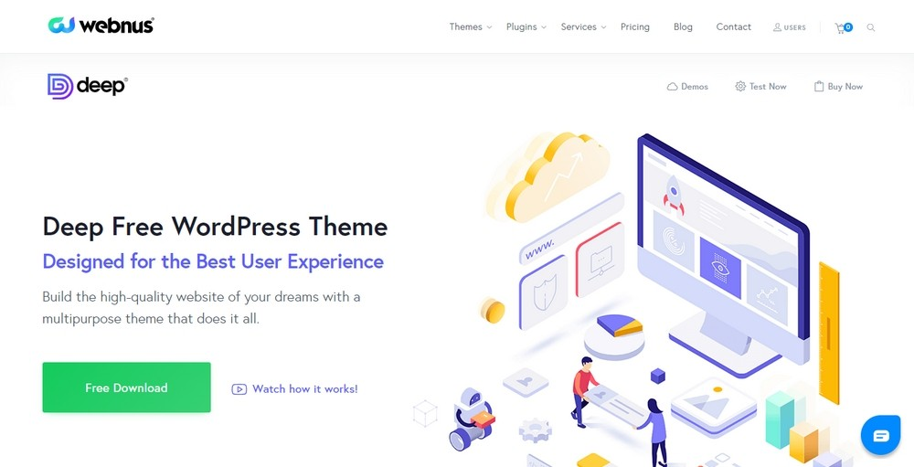 Deep WordPress free theme