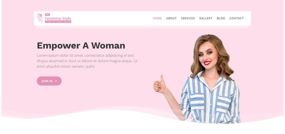 Feminine Style Pro Feminine WordPress Theme