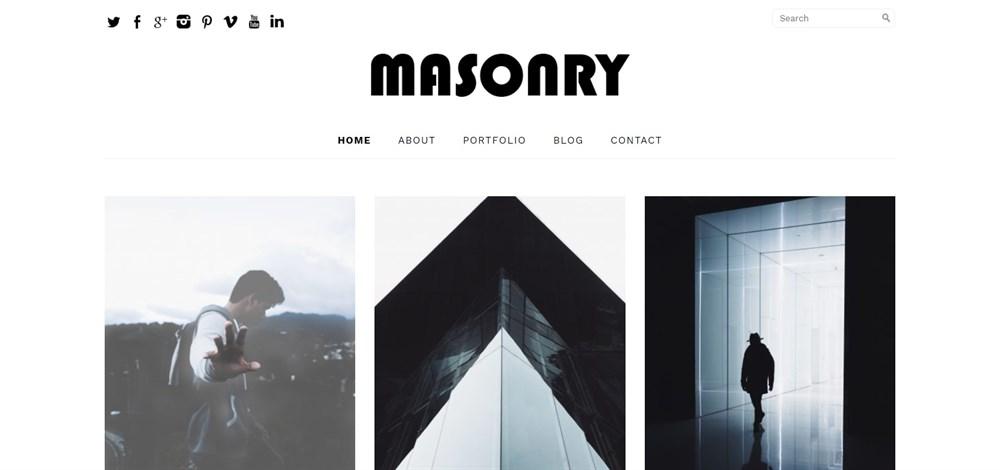 Free Masonry Theme demo