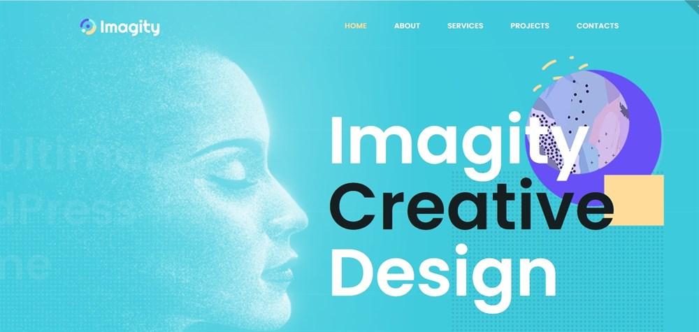 Imagity Creative Minimal wordpress theme