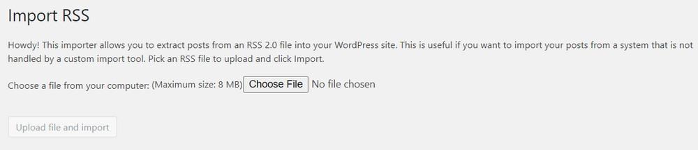 Import RSS WordPress