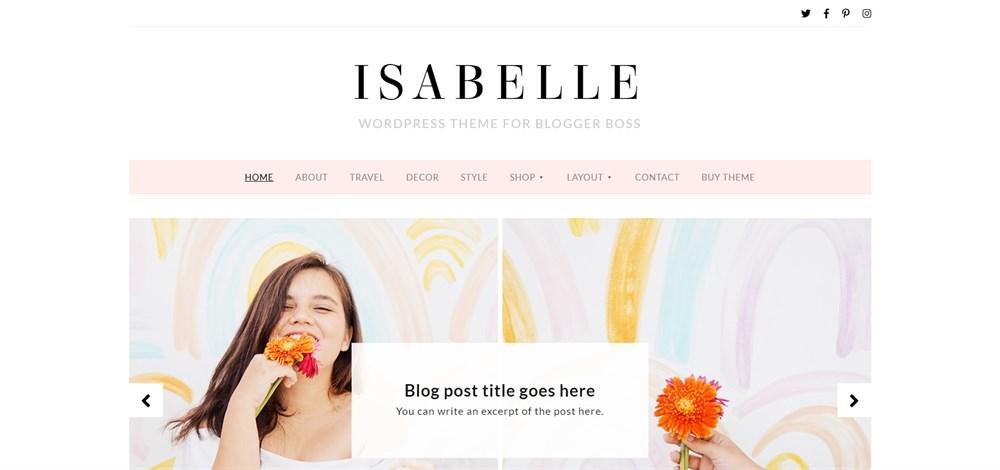 Isabelle WordPress Theme for Blogger
