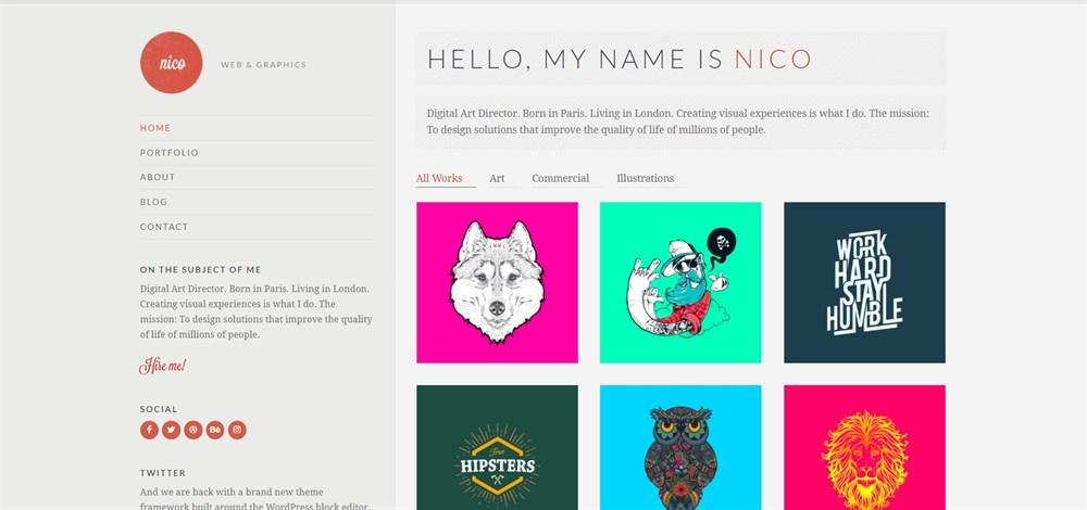 Nico portfolio theme