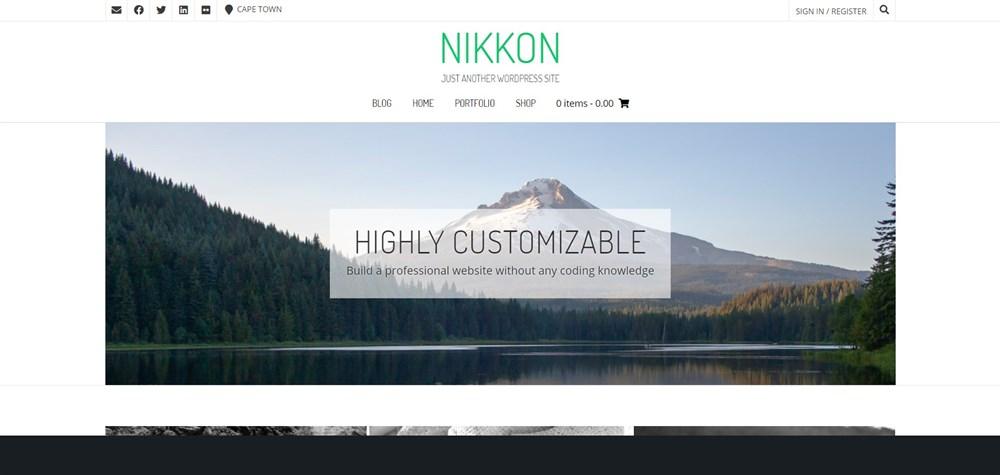 Nikkon portfolio theme for WordPress