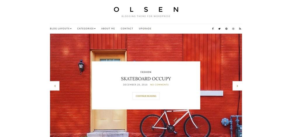 Olsen Light demo site