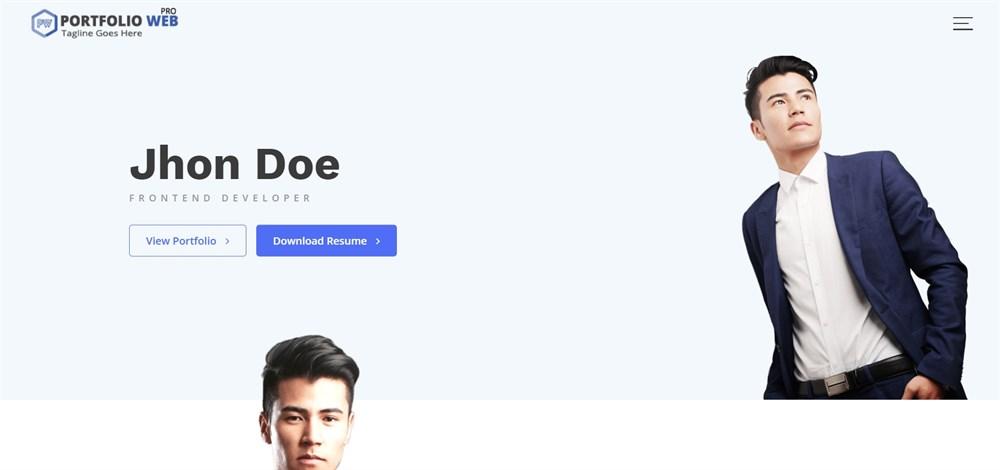 Portfolio Web Pro demo site