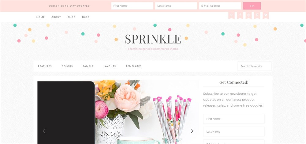 Sprinkle feminine genesis theme demo