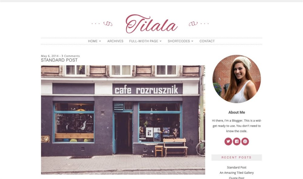 Tilala wordpress theme