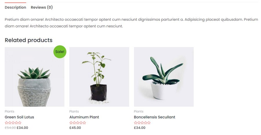 WooCommerce related grouped products