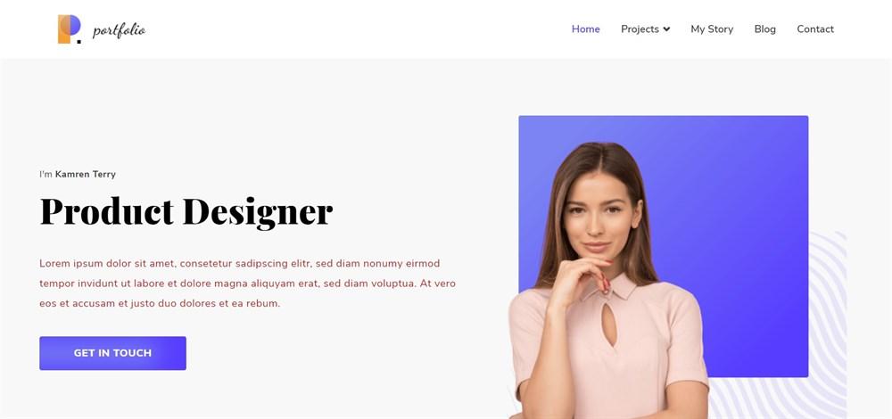 Zakra Portfolio demo site
