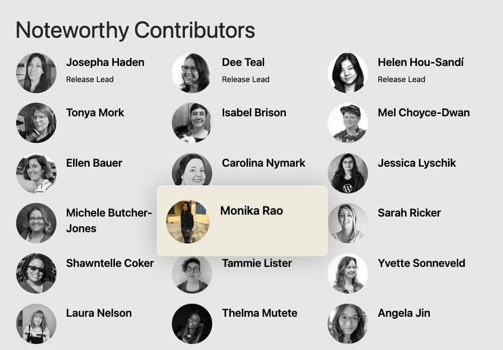 WordPress 5.6 Noteworthy Contributors