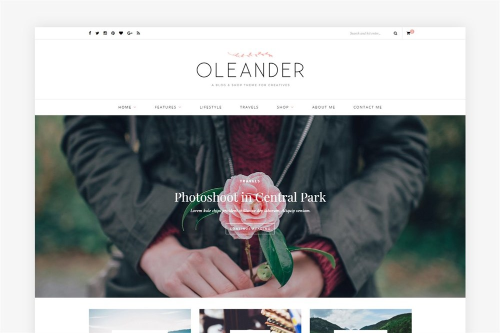 oleander theme demo