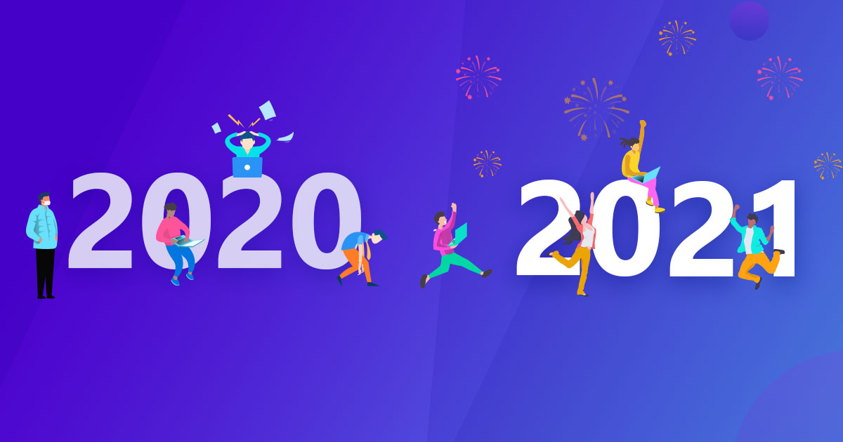Welcoming new year 2021