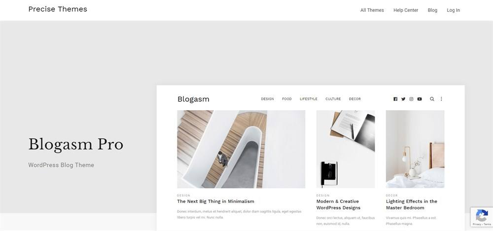Blogasm Pro demo site