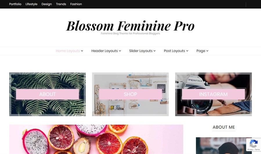 Blossom Feminine Pro theme demo