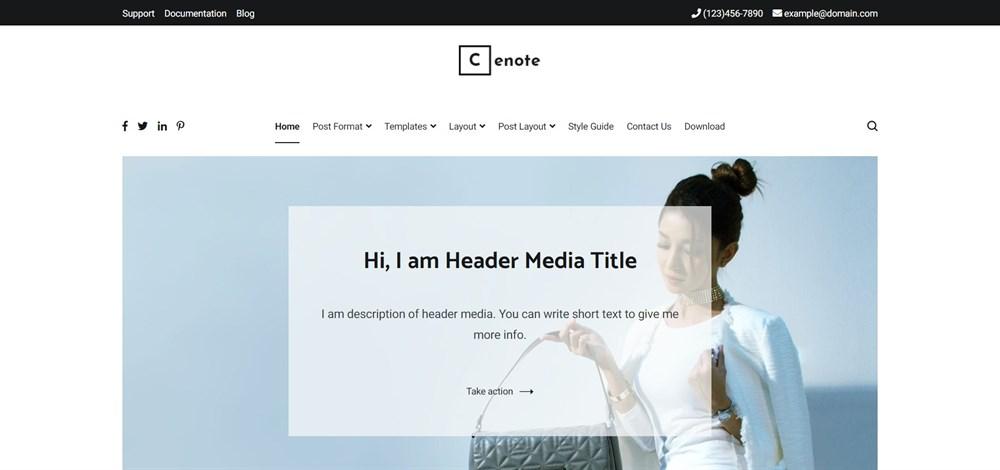 Cenote Minimal and Clean WordPress Blog Theme