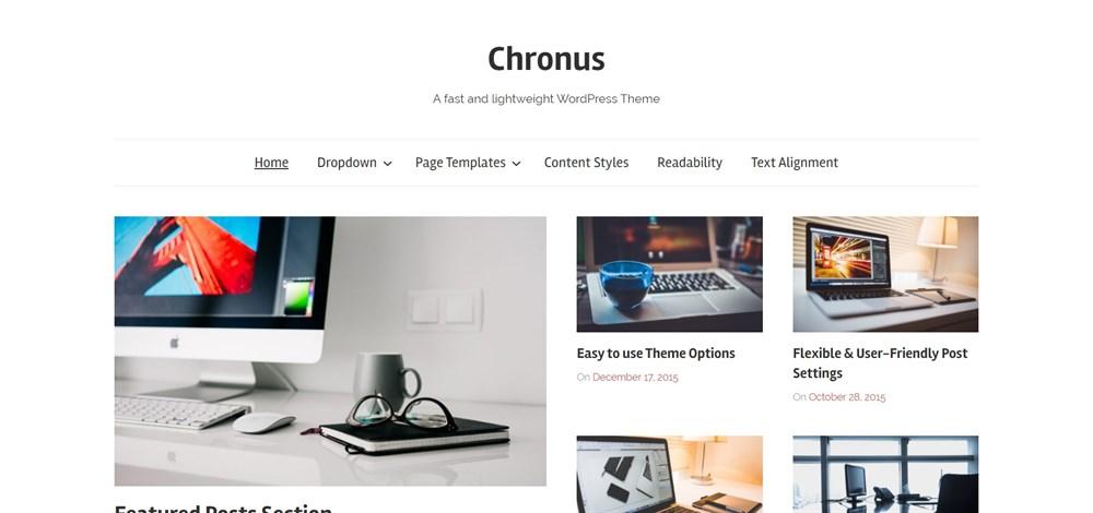 Chronus lightweight WordPress Theme
