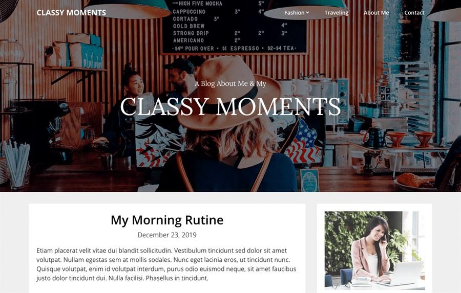 Classy Moments wordpress theme
