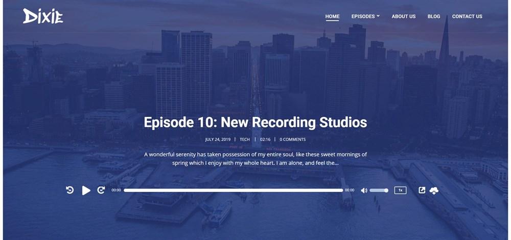 Dixie WordPress Theme demo site