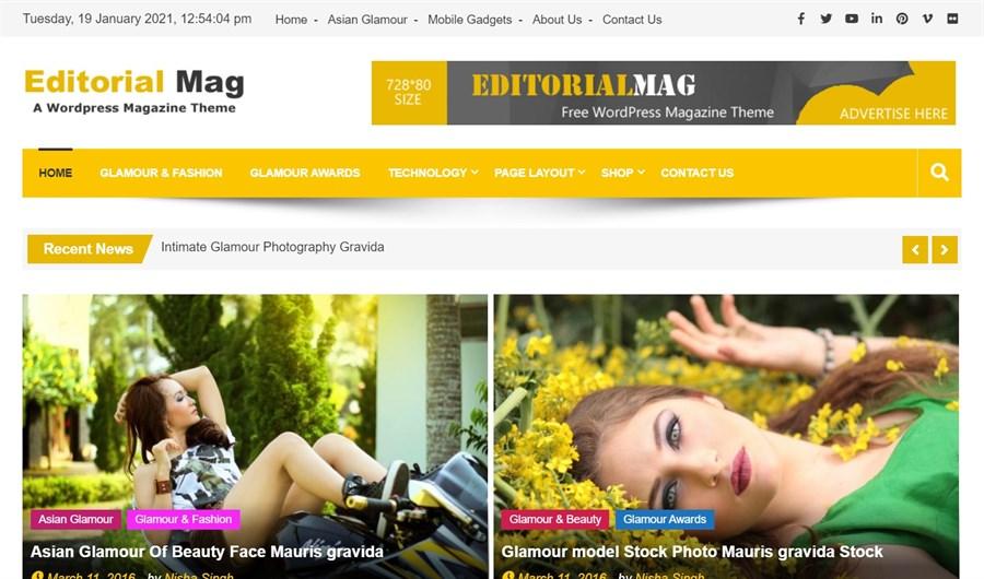 EditorialMag A WordPress Magazine Themes demo