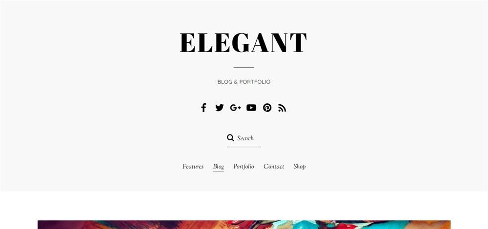 Elegant themify theme demo