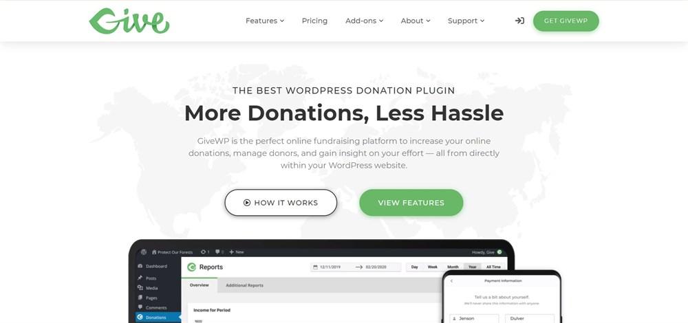 GiveWP WordPress plugin