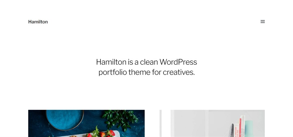 Hamilton WordPress demo site