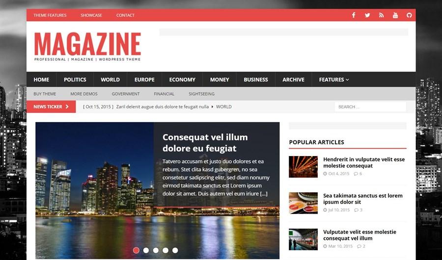 MH Magazine WordPress theme for adsense