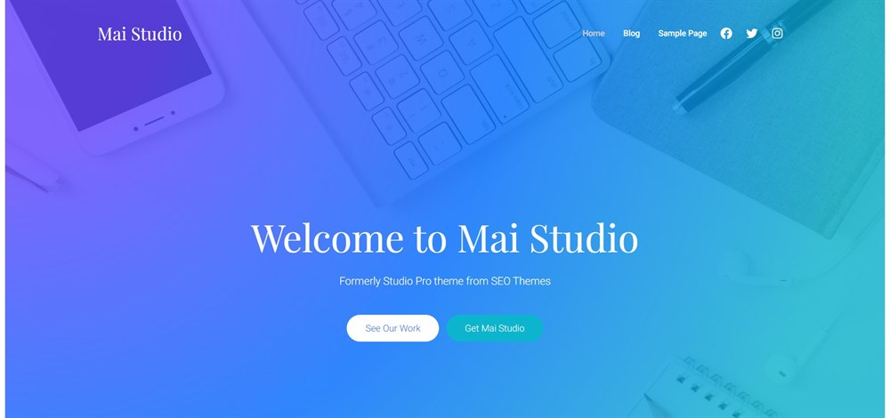 Mai Studio wordpress theme