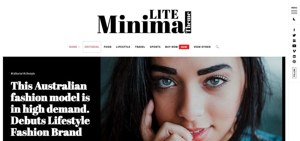 Minimal Lite WordPress site demo