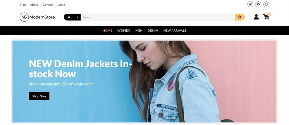 Modern Store WordPress demo site