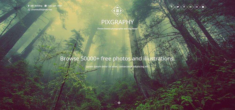 PIXGRAPHY WordPress theme for photographers