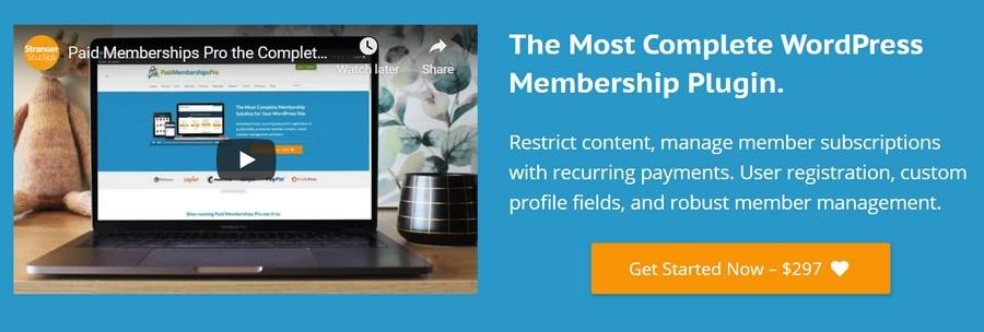 Paid membership pro wordpress plugin