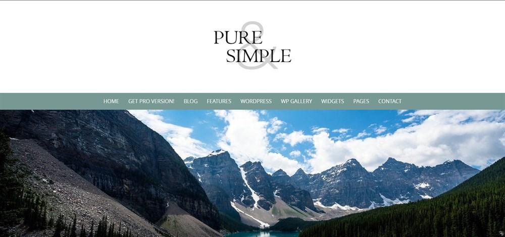 Pure & Simple Free WordPress theme