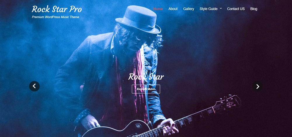 Rock Star Pro wordpress theme